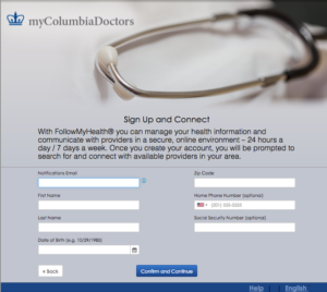 general information columbia nurse practitioner group