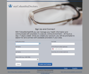 sign up columbia nurse practitioner group